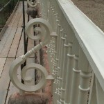 Cleaned & Painted Cast Iron Railing