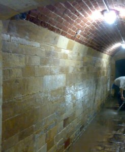 Cleaned Walls and vaulted ceiling