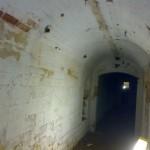 limewashed brick cellar walls
