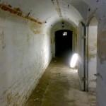 limewashed cellar passage