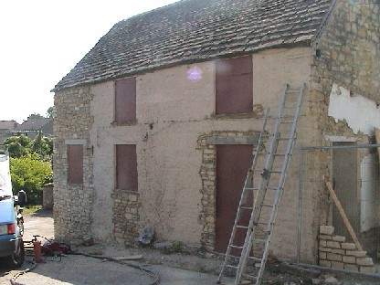 Stone House Before Cleaning